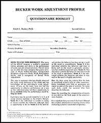 Becker Work Adjustment Profile - 24 Questionnaire Test Booklets (Second Edition)